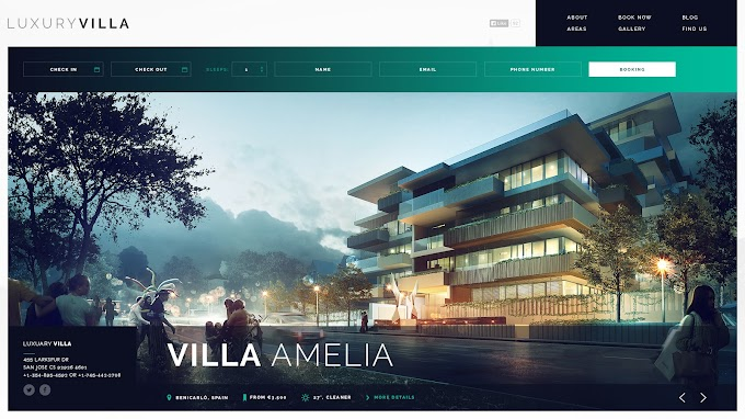 Property Showcase WordPress Theme - Luxury Villa