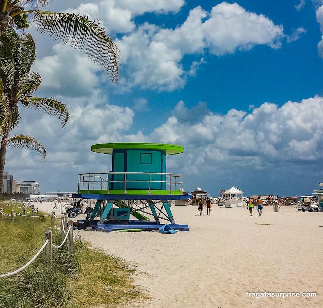 Posto de salva-vidas em South Beach, Miami Beach