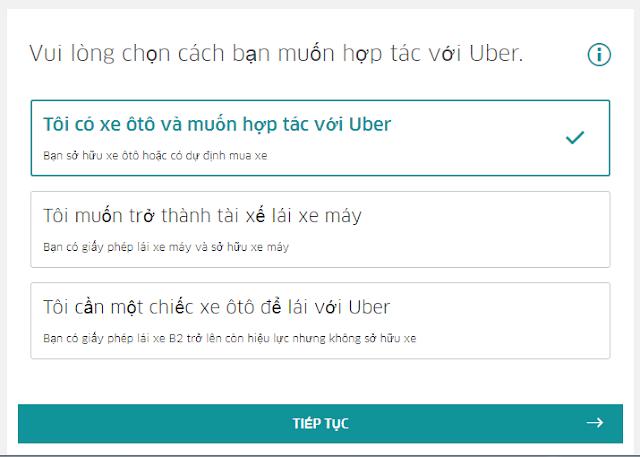 cách đăng kí làm tài xế uber lần đầu tiên