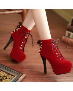Red Laceup Stiletto on Sale