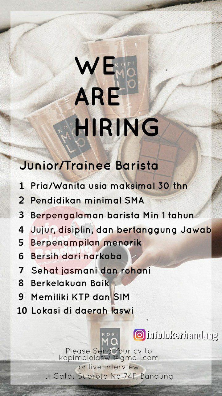 Lowongan Kerja Kopi Molo Laswi Bandung September 2019