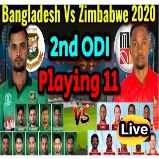 Ban Vs Zim 2020 – 2nd ODI (বাংলাদেশ Vs জিম্বাবুয়ে) ২০২০ লাইভ ক্রিকেট Live