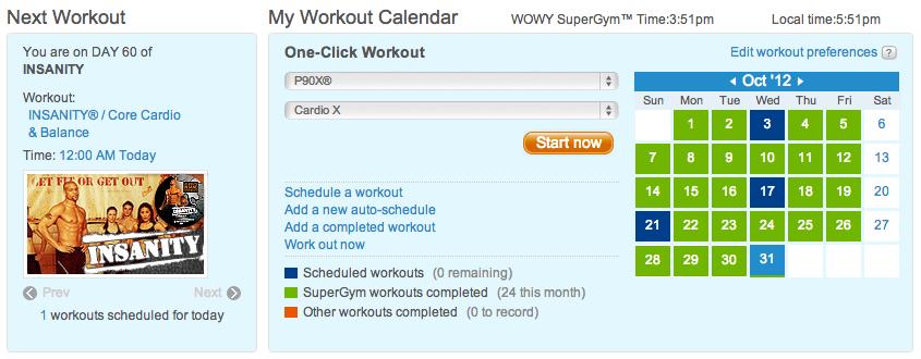 Geek Fitness - Schedule It!