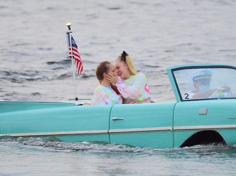 JoJo Siwa, Kylie Prew Clicks at a Car Boat Ride at Disney World in Florida 18 Apr-2021