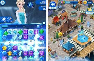 تنزيل لعبة Frozen Free Fall برابط مباشر للاندرويد