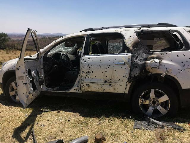 Con más de 3 mil casquillos y una camioneta tapizada a balazos terrible hallazgo en Tepatitlan, Jalisco tras cateo a rancho encuentran fragmentos oseos
