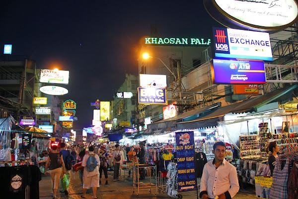 Calle Khao San en Bangkok