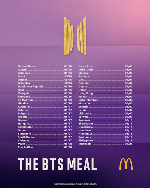 BTS McDonald's Meal