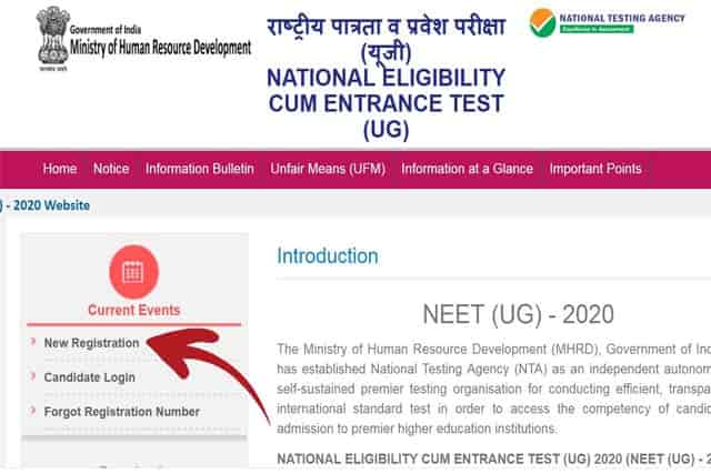 NEET Registration  2020 | Application Apply Online Here