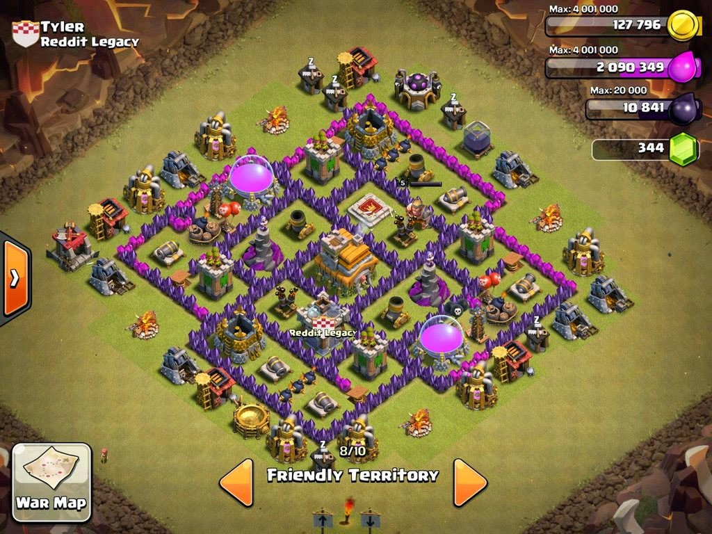 Clash Of Clan War Base Th 7 Picture