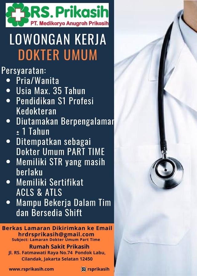 Loker Dokter RS. Prikasih Cilandak, Jakarta Selatan