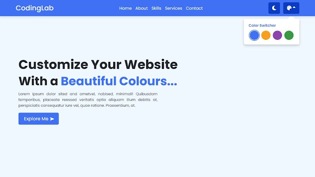Create a Website in HTML CSS and JavaScript