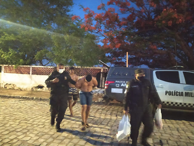 Polícia Miliar prende dois homens com mais de 5 quilos de maconha na zona rural de Apodi, RN
