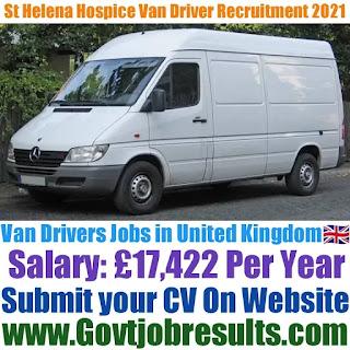 St Helena Hospice Van Driver Recruitment 2021-22