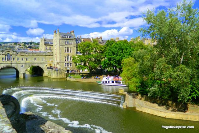 Pulteney Bridge, a imagem mais conhecida de Bath