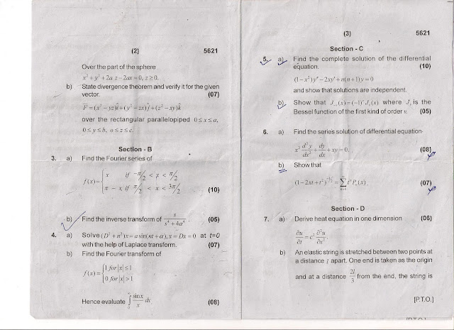 HPU AS-1006 Applied Mathematics II B.Tech 2008 Question