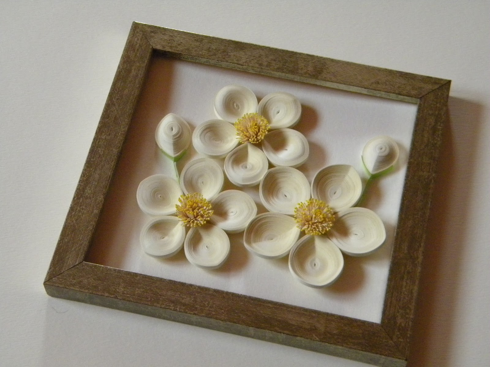 Invita ii de nunt personalizate quilling framed flowers for Decorazioni fai da te casa
