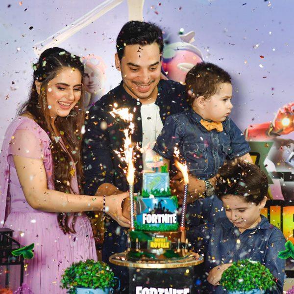Fatima Effendi and Kanwar Arsalan Celebrate Their Sons Almir and Mahbir Birthday
