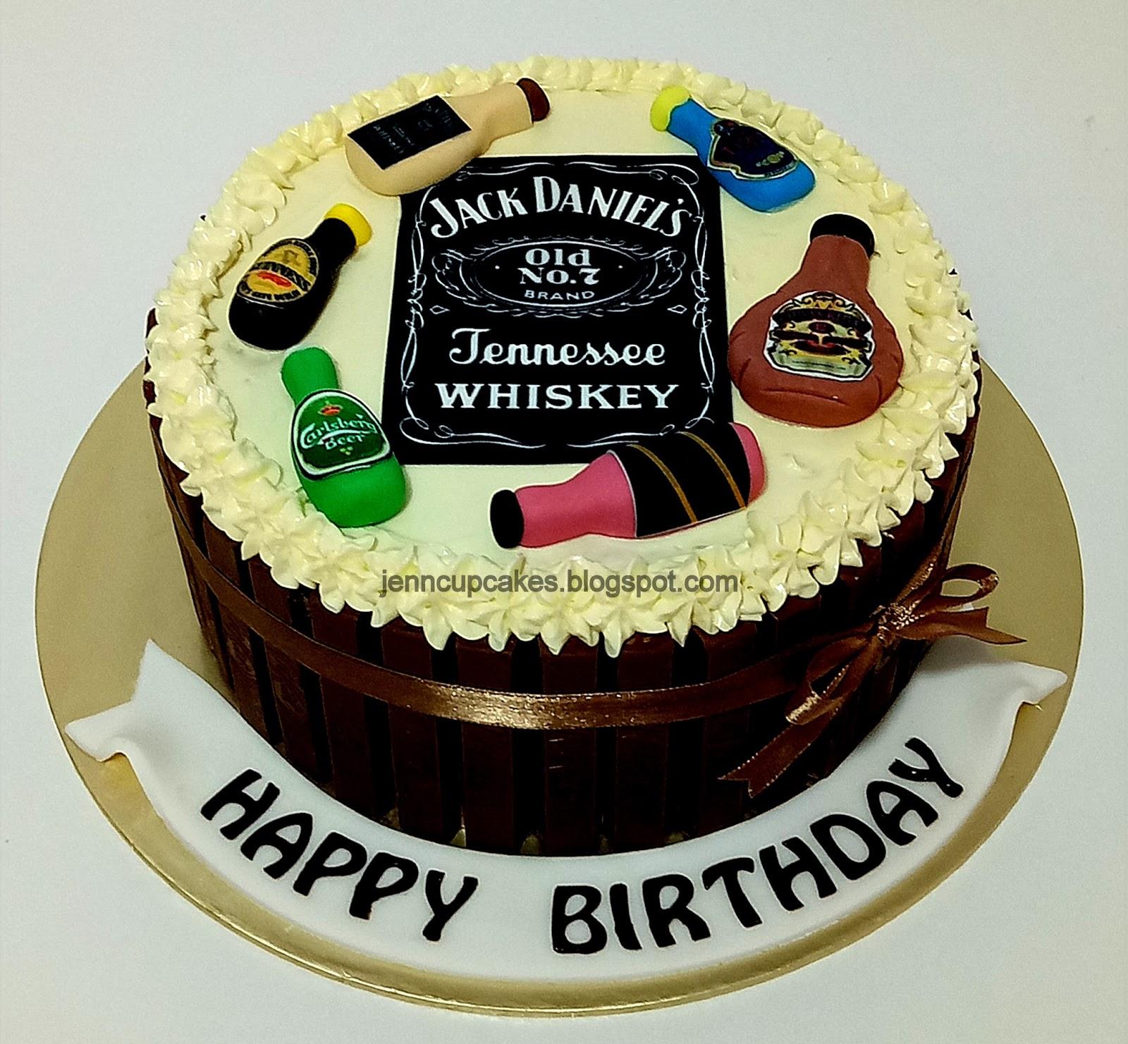 Jenn Cupcakes Muffins Liquor Bottles Cake