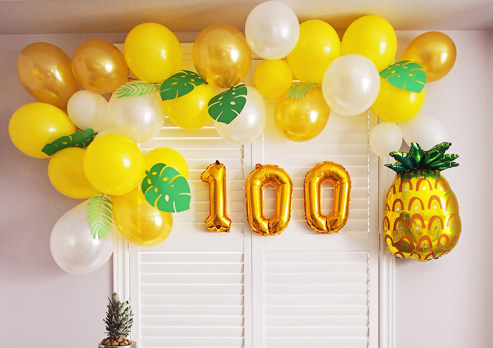 Tropical Balloon Garland Arc Tutorial