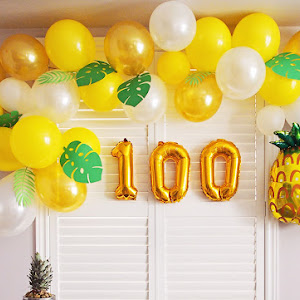 how to make balloon garland arc
