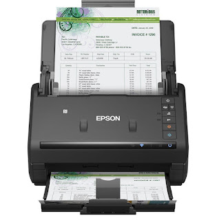 is an effective scanner worked for dorsum direction or other bookkeeping needs Epson WorkForce ES-500WR Driver Download, Review, Price