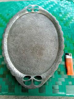LAPAK BARANG ANTIK : Nampan Jadul Bahan Aluminium