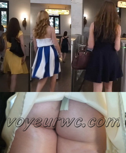 Upskirts 3051-3070 (Beautiful Girls Upskirts Voyeur Escalator)