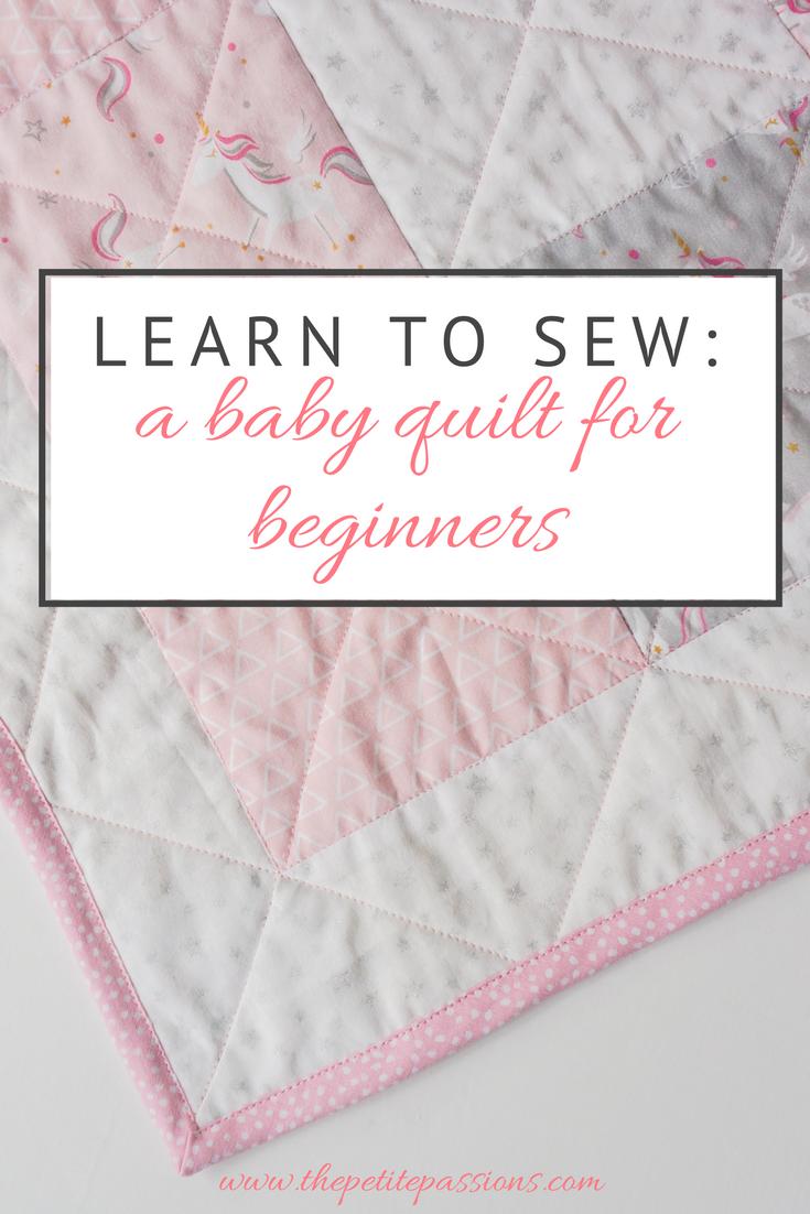 Beginner's baby quilt