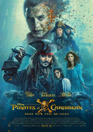Pirates of the Caribbean: Dead Men Tell No Tales 2017 BRRip 720p Dual Audio In Hindi English ESub