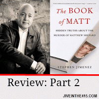 "Gay Author Stephen Jimenez and ""The Book Of Matt"" book cover"
