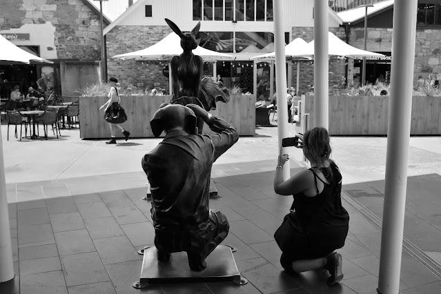 Hobart Public Art   Gillie & Marc Sculpture at Salamanca Square'