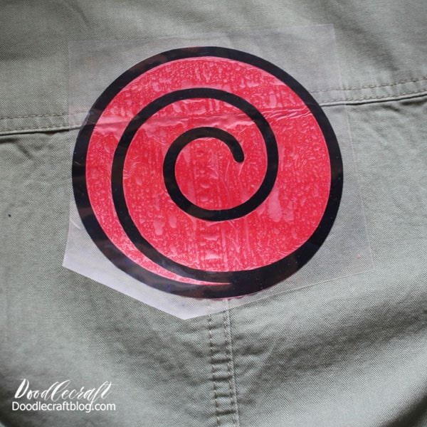 Many of the symbols repeat themselves on different characters, so it's easy to save off the image and cut a few. Kakashi needs the Uzumaki clan symbol on his vest too!