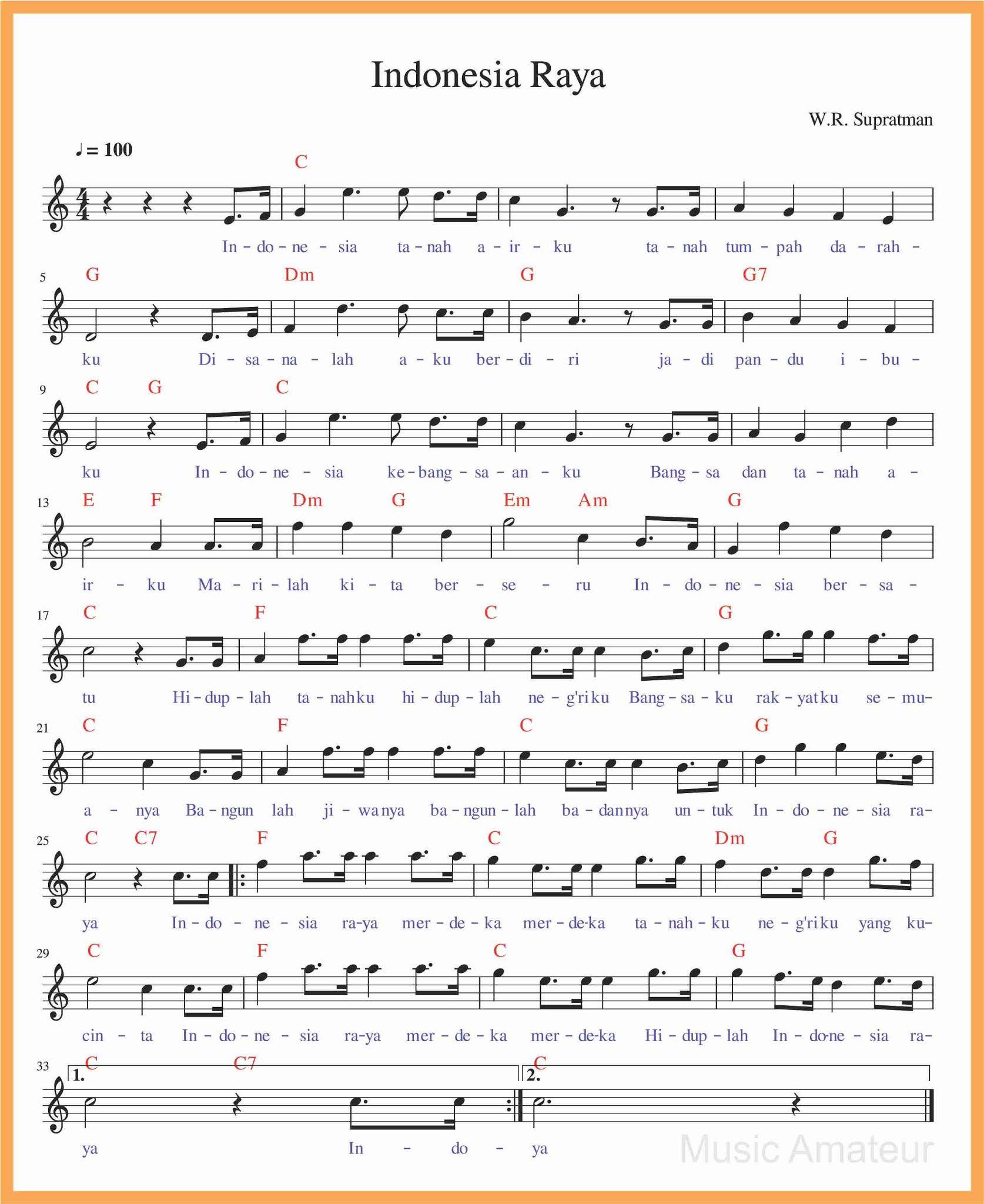 Not Angka Lagu Indonesia Raya : angka, indonesia, Angka, Indonesia, Stanza, SEPUTAR, MUSIK