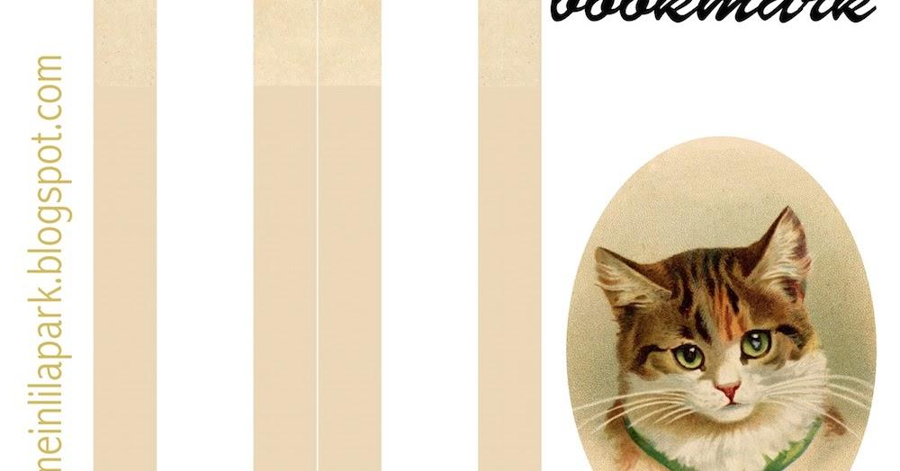 Free Printable Vintage Cat Bookmark Ausdruckbares