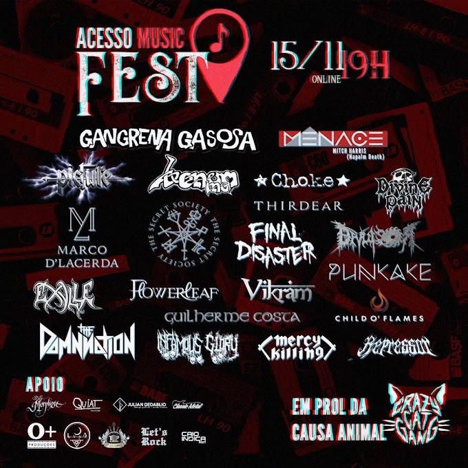 """Conheça as Bandas: """"Acesso Music Fest"""" (online)"""