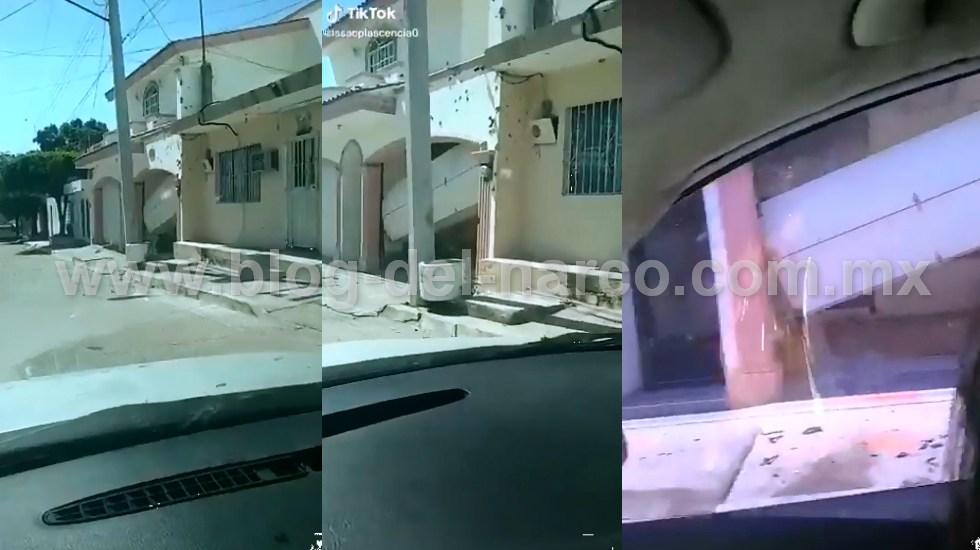 Vídeo; EL CHINO ÁNTRAX se defendió hasta el ultimo momento, reventada y llena de agujeros, así quedo la casa de donde lo sacaron y levantaron ayer