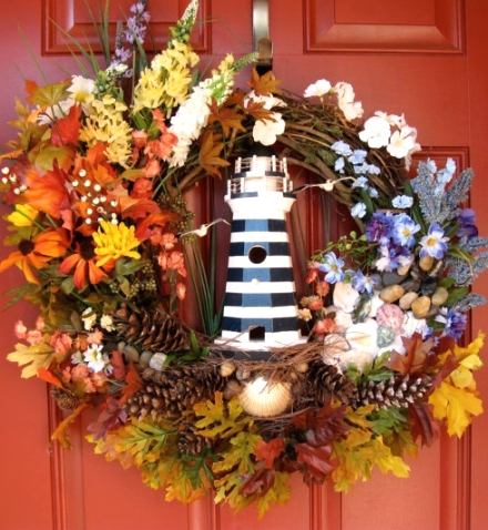beach Fall wreath ideas