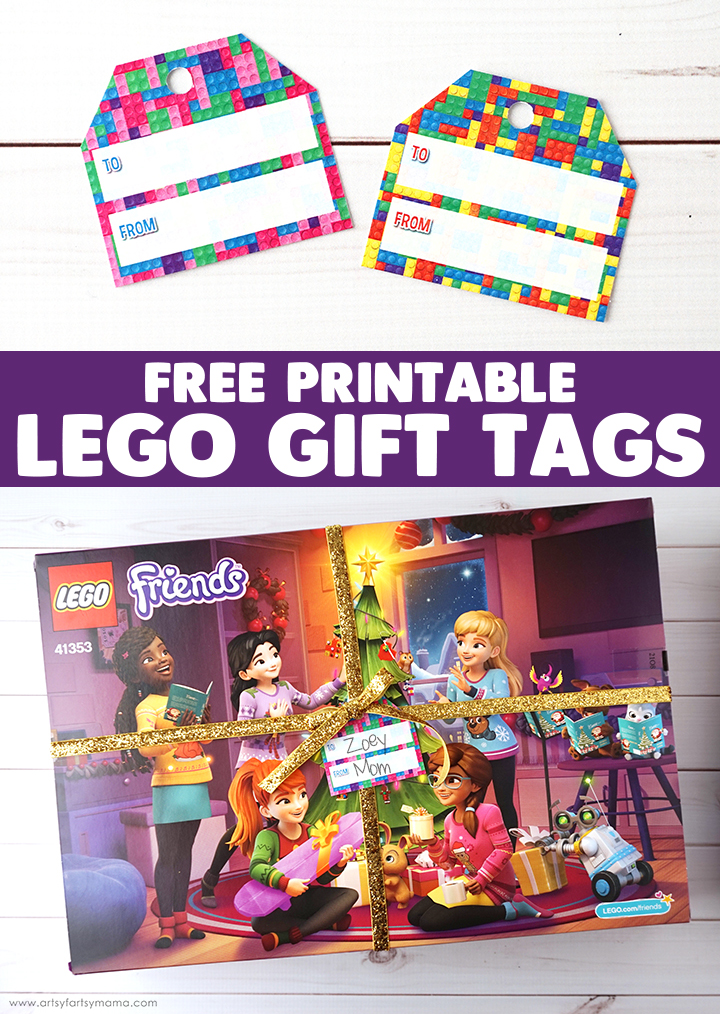 Count down to Christmas with the LEGO® Friends Advent Calendar and download Free Printable LEGO Gift Tags!