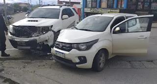 Choque Ushuaia Kuanip y Orcadas del Sur entre Toyota y Fiat