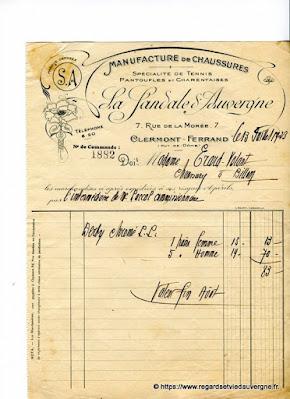 Vieux papiers : la sandale d'Auvergne