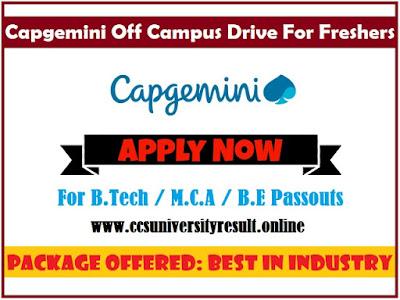 Capgemini Off Campus Drive 2019-2020
