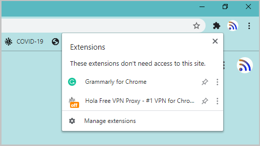 Manage Chrome Extension