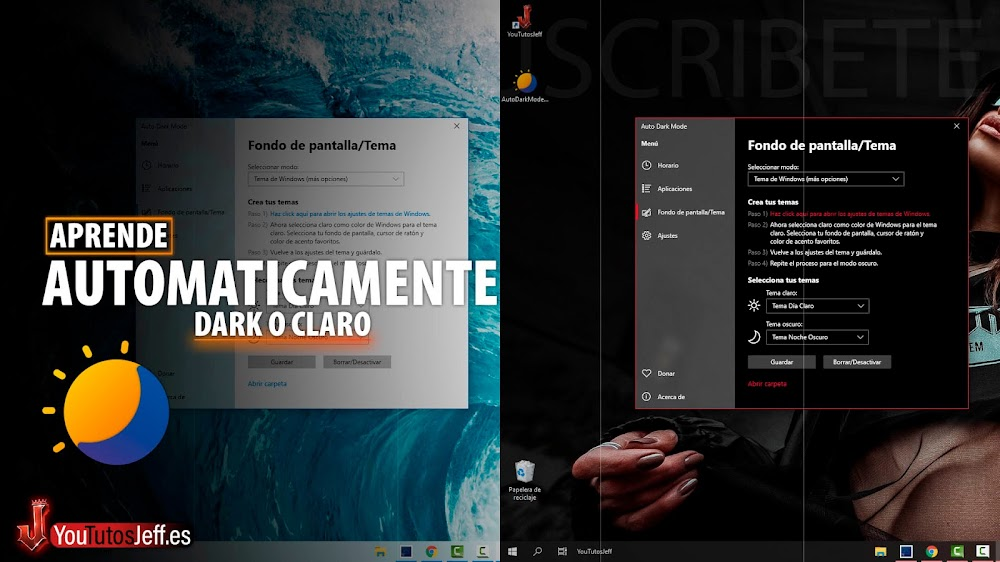 Cambia el Tema Oscuro y Claro Automáticamente Según tu Horario, Windows 10