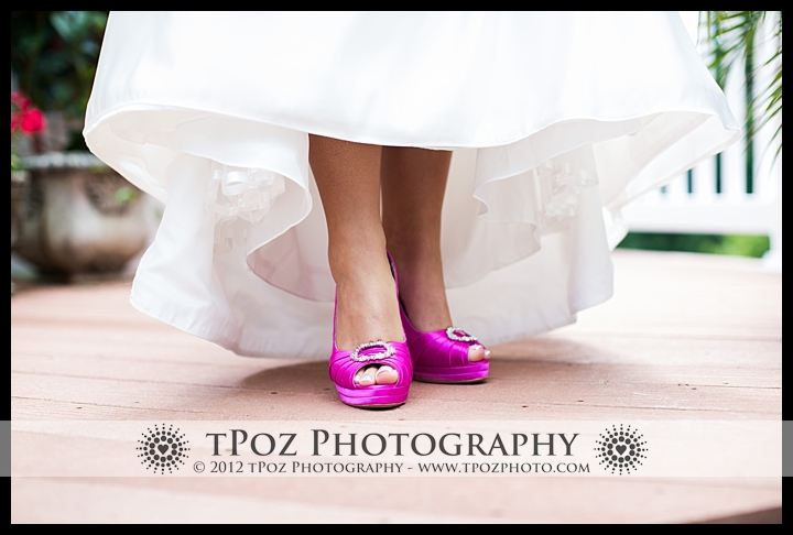 hot pink wedding heels