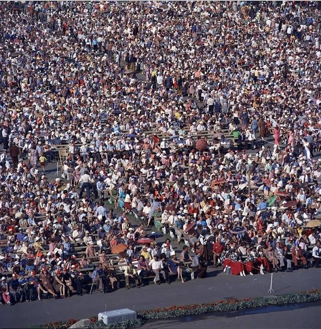 1980-е (?) годы. Рига. Межапарк. Праздник песни (Источник фото: F64)