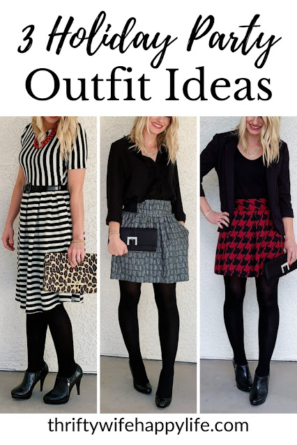 3 Holiday Party Outfit Ideas #holidayoutfits #outfitideas