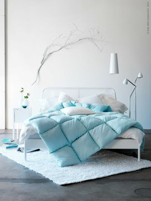 so comfort light blue and grey bedroom