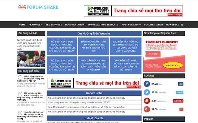 Injob Template Blogspot - Giao diện website việc làm chuẩn seo 2019