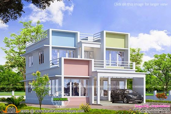 Modern colorful home design